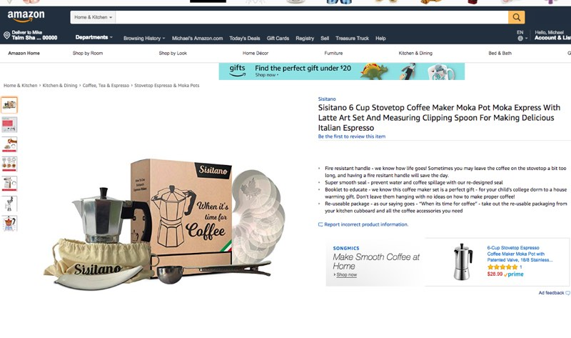 Buy Coffee Accessories on Amazon