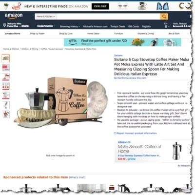 Buy our Moka pot on Amazon today